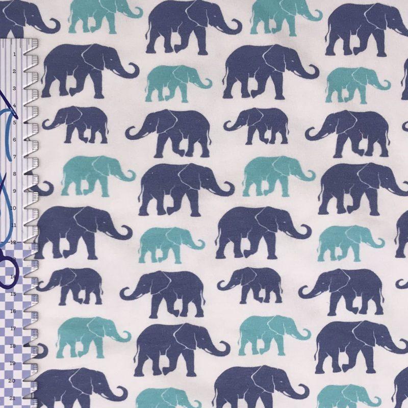 Baumwolljersey Elefanten – Fräulein von Julie