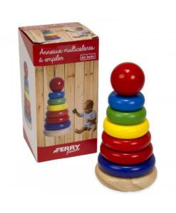Stapelturm aus Holz 17 cm